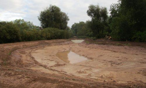 Sulzfeld neu angelegtes Absetzbecken